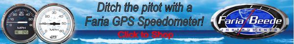 Faria GPS Speedometers at Boatersland Marine