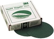 "3M 00521 8"" 80E Grit Green Corps Hookit Regalite Discs 25/Box"