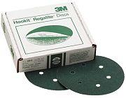 "3M 00612 6"" 80E Grit Green Corps Hookit Regalite Dust Free Discs 25/Box"