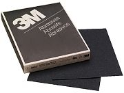 "3M 02018 9"" x 11"" Wetordry Tri-M-ite 80C Grit Paper Sheets 50/Sleeve"