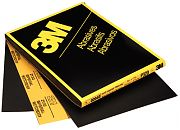 "3M 02037 9"" x 11"" Imperial Wetordry P500 Grit Paper Sheets 50/Sleeve"