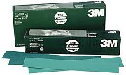 3M 02230 80D Grit Green Corps Stikit Production Resin Bond Paper Sheets 100/Box