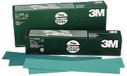 3M 02232 36E Grit Green Corps Stikit Production Resin Bond Paper Sheets 100/Box
