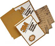 "3M 02539 9"" x 11"" P400A Grit Production Resinite Gold Paper Sheets 50/Sleeve"