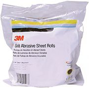 "3M 02599 P80A Grit Stikit Gold Sheet Roll 2-3/4"" x 25yds"