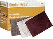"""3M 04028 6"""" x 9"""" Ultra Fine Grey Scotch Brite Hand Pad 20/Box"""