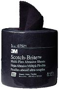 "3M 07521 4"" x 8"" Very Fine Grit Scotch-Brite Multi Flex Abrasive Sheet Roll"