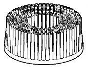 "3M 18732 2"" Roloc Yellow Bristle Brush Disc 80 Grit"