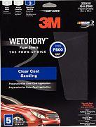"3M 32038 9"" x 11"" Imperial Wetordry P400 Grit Paper Sheets 5/PK"