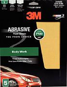 "3M 32545 9"" x 11"" P180A Grit Production Resinite Gold Paper Sheets 5/PK"