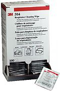 3M 504 Respirator Cleaning Wipes 100/Box