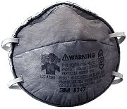 3M 8247R95 Particulate Respirator with Nuisance Level Organic Vapor Relief 20/Box
