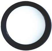 A P Products 016-SON-102 Blk Surf Mnt Round LED Fixture
