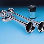 AFI 10106 12V Chrome Dual Trumpet Air Horn