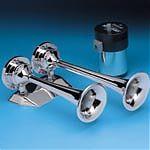 AFI 10108 12 Volt Chrome Dual Trumpet Mini Air Horn