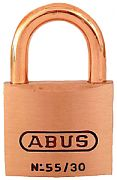Abus Lock 55806 Padlock Key #5301 Brass 1 1/4I