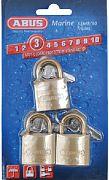 Abus Lock 56413 Padlock Brass 1 1/4 Key 3/CD