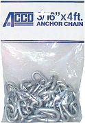 Acco Peerless 406940405 Anchor Lead Galv 1/4X5 Ft