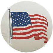 "Adco 1781 US Flag Tire Cvr A 34"" White"