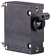 Ancor 551515 15A Black Magnetic Single Pole AC/DC Circuit Breaker