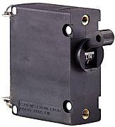 Ancor 551525 25A Black Magnetic Single Pole AC/DC Circuit Breaker