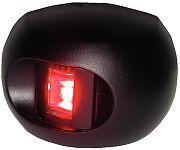 Aqua Signal 343027 Series 34 Black Port LED Bulkhead Side Light - Red