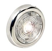 "Attwood 6342R7 1.5"" Stainless Steel LED Round Interior/Exterior Light - Red"