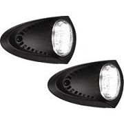 Attwood 6523BK7 Black Powder Coat LED Docking Lights