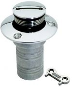 "Attwood 664065 1-1/2"" Stainless Steel Deck Fill - Gas"