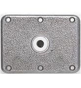 "Attwood Swivl-Eze 66839 Lock´N-Pin Stainless Steel Base Plate, Nylon Bushing - 6"" x 8"", Non-Threaded Bushing"