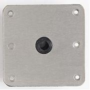 "Attwood Swivl-Eze 67739 Lock´N-Pin Stainless Steel Base Plate, Nylon Bushing - 7"" x 7"" Non-Threaded Bushing"