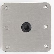 "Attwood Swivl-Eze SP-67739-T  Lock´N-Pin Stainless Steel Base Plate, Nylon Bushing - 7"" x 7"" Threaded Bushing, Skin Packed"