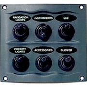 BEP Marine 9006WP Gray 6 Switch Spray Proof Switch Panel