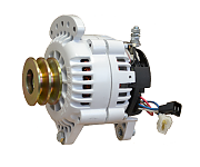 Balmar 60-120-DV Alternator, 120A, 12V, Saddle Mount, 3.15in, Dual Pulley, Isolated Ground