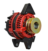 Balmar AT-DF-200-DV Alternator, AT Series, 200A, 12V, Saddle Mount, 3.15in, Dual Pulley, Isolated Ground