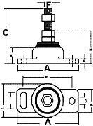 "Barr Marine 80006 Engine Mount Sgl Adj 3/4"" Bolt"