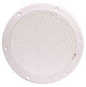 """Beckson DP63W 6-3/16"""" White Non-Skid Pry Out Deck Plate"""