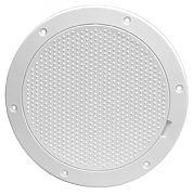 "Beckson DP85W 7-5/8"" White Diamond Pry Out Deck Plate"