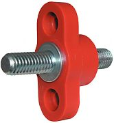 "Blue Sea 2204 Small Red 250A Feed-Through Terminal 3/8""-16 Stud"