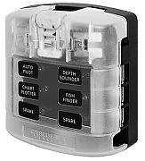Blue Sea 5029 ST Blade Fuse Block With Cover - 12 Circuit without Negative Bus
