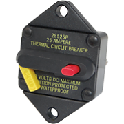 Blue Sea 7080 25A 285 Series Thermal Circuit Breaker - Panel Mount
