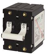 Blue Sea 7235 15A White A-Series Double Pole AC/DC Circuit Breaker