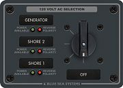 Blue Sea 8367 AC Rotary Switch Panel - 2 Switches