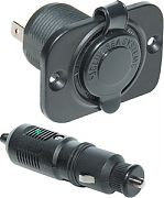 Blue Sea Systems 1015 12VDC Plug with Dashsocket 1010/