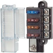 Blue Sea Systems 5045 Fuse Block Stblade 4CIRC with Cvr