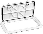 "Bomar G8102022 Off White Inspection Hatch 12"" x 21-1/16"" Cut Out"