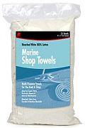 Buffalo 62031 White Marine Shop Towels 25/Bag