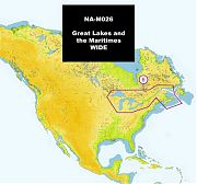 C-Map NA-M026 MAX Great Lakes and The Maritimes
