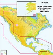 C-Map NA-M035 MAX MegaWide Pacific Coast & Central America
