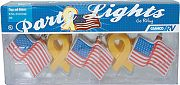 Camco 42657 Party Lights Yellow Ribbon/Fla